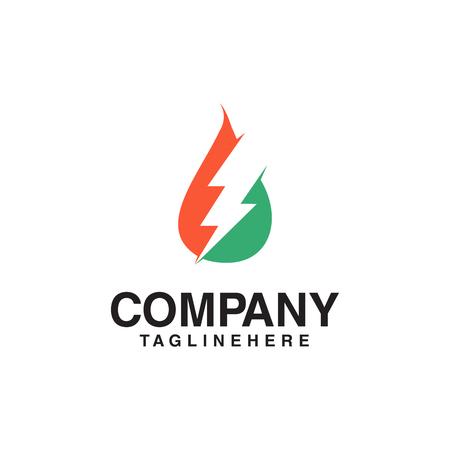 Resources Logo, gas oil and thunder logo. Stock Illustratie