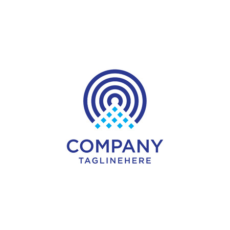 icono inalámbrico y logo wifi. símbolo de onda de radio vector aislado Logos