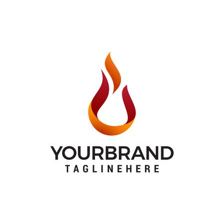 Abstract Fire Ball Logo template. Vector Illustrator Eps.10 Logó