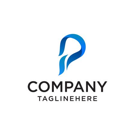 Colorful Vector Logo Design. Icon Concept. Letter P.