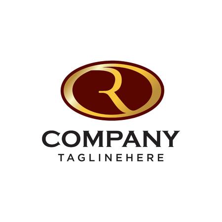 R initial ovale company logo