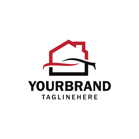 car garage, workshop, car, home or house garage, workshop logo Banque d'images - 108477806