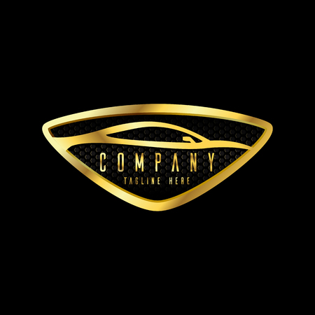 modern car emblems, badges logo design template for car service, tire service, wash and detailing.