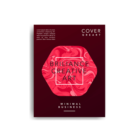 Marble covers, Trendy colorful backgrounds. Eps10 layered vector. Illustration