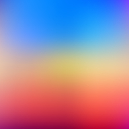 Abstract blurred gradient mesh background in bright rainbow colors. Colorful smooth banner template. Easy editable soft colored vector illustration