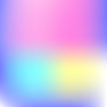 Abstrakter Unschärfegradientenhintergrund mit Trendpastellrosa-, Purpur-, Violett-, Gelb- und Blautönen für Designkonzepte, Hintergrundbilder, Web, Präsentationen und Drucke. Vektorillustration. Vektorgrafik
