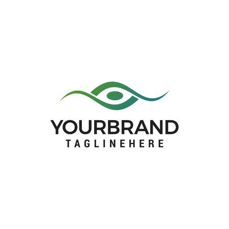Modello di progettazione di logo di concetto creativo occhio