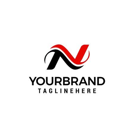 Logo dla szablonu koncepcji projektu na literę N. Logo