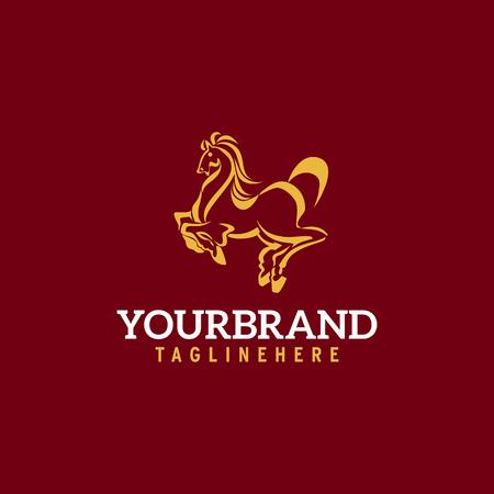 Horse logo. Stable, farm,Valley,Company, Race logo design.
