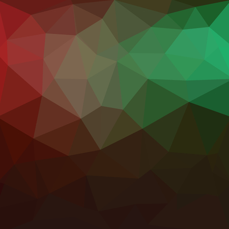Light Green, Red vector triangle mosaic background. A completely new color illustration in a vague style. The elegant pattern can be used as part of a brand book. Banco de Imagens - 108611353