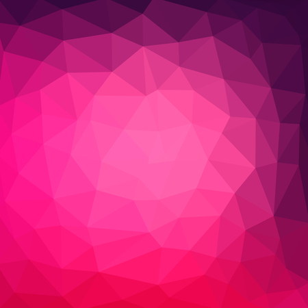 multicolor purple, pink geometric rumpled triangular low poly style gradient illustration graphic background. Vector polygonal design for your business. Vettoriali
