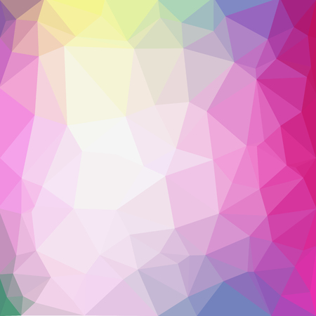 vector abstract irregular polygonal background - triangle low poly pattern - light baby pastel colors