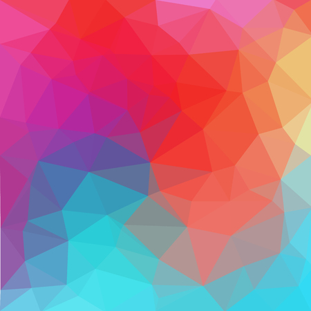 Multicolor blue, red polygonal illustration, which consist of triangles. Geometric background in Origami style with gradient. Triangular design for your business. Illustration