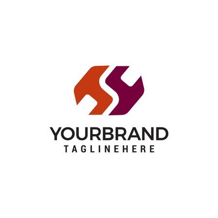 HS, S logo Logo Design Template