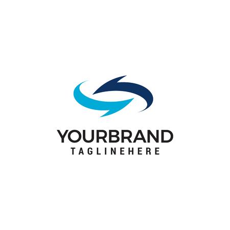 Pfeile drehen Logo-Design-Vorlage