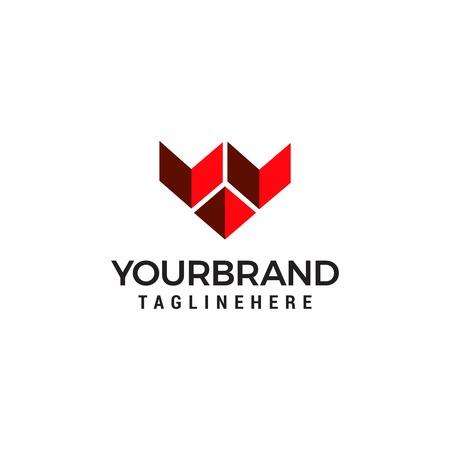 Modern logo letter W Vector illustration. Stock Illustratie