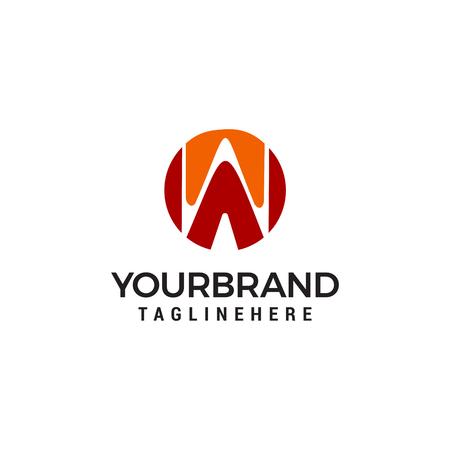 Letter W logo,Circle shape symbol Logo template vector