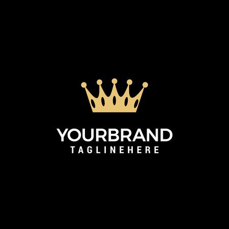 Modello di progettazione del logo del concetto di corona creativa Logo