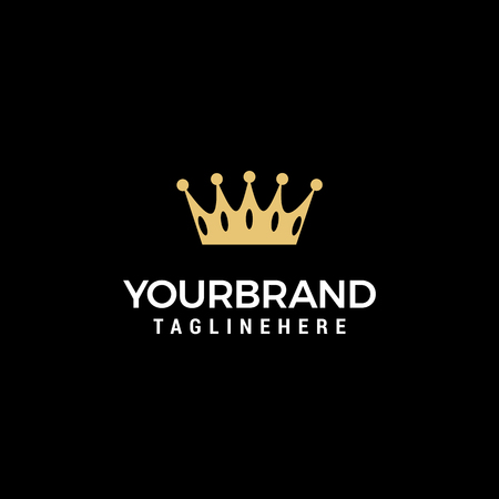Plantilla de diseño de logotipo de Creative Crown Concept Logos