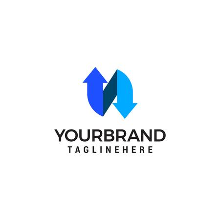 N letter Logo template vector