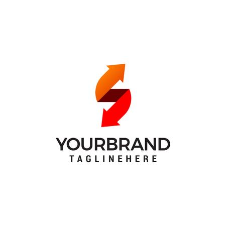 s brief pijl vector logo
