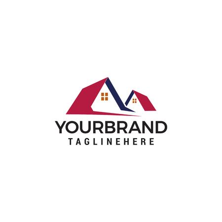vector house roofs Logo template vector