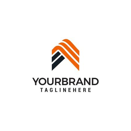 Letter A Stripe Logo template vector