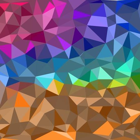 Abstrakter Hintergrund - bunte geometrische Formen, polygonale Vektortextur - Regenbogenspektrumfarben Vektorgrafik