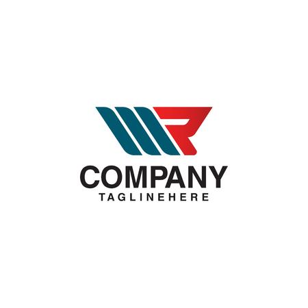 Letter R racing Logo Design Template Element