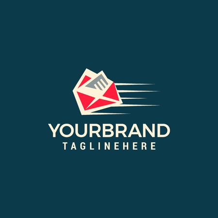 Quick mail logo template design