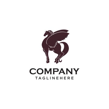 wing pegasus horse logo