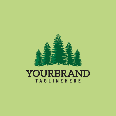 Vector illustration of pines tree. Its good for forest conservation logo