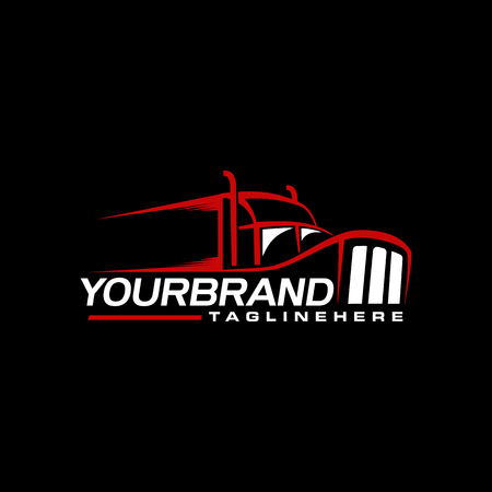 Trucking logo design branding
