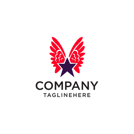 star wing logo icon design template elements