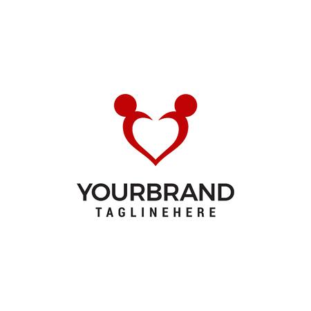Love icon Adoption and Community Care Logo Template vector Ilustracja