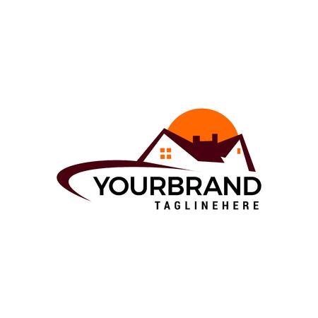 Real Estate, proprietà e costruzione Logo design Logo