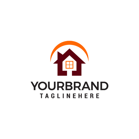 house building logo, Vector Real Estate template design