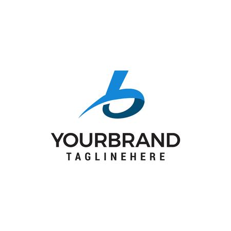 Letter B logo icon design template elements Vettoriali