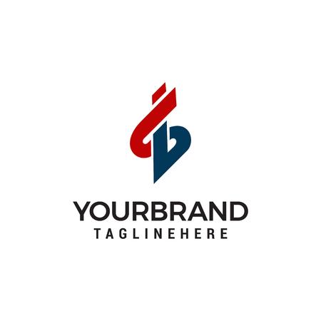 Letter S B logo design template