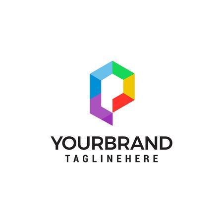 Business corporate letter P logo design vector. Colorful letter P logo vector template.