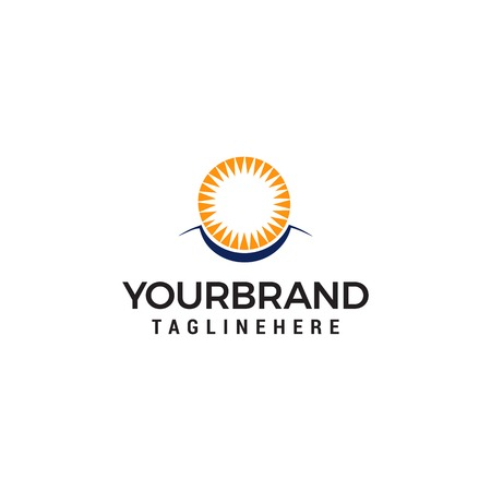 Sun eye Vector Logo Design Template Illustration