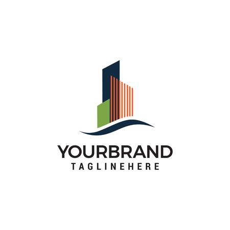 Modèle de conception de logo de ville de construction