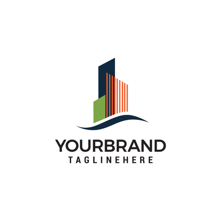 Ontwerpsjabloon voor het bouwen van een stad Logo