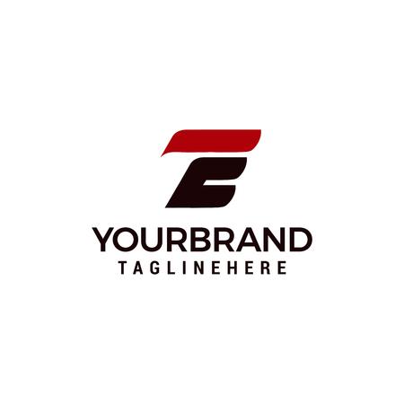 Elementos de plantilla de diseño de icono de logotipo letra E
