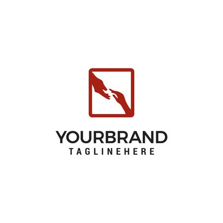 Hand Help Logo Design Template 向量圖像