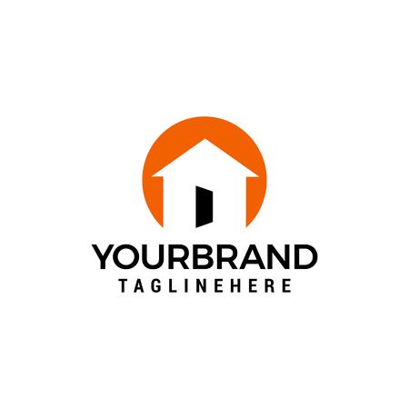 casa porta aperta Logo design Template vector Logo