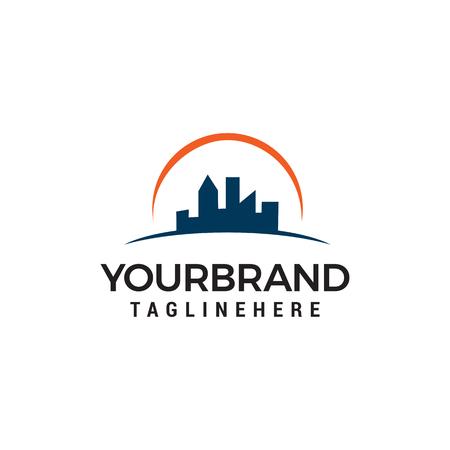 building cityscape Skyline Logo designs Template vector