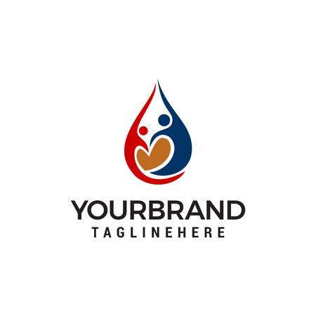 Love Community Care Logo Template design Illustration