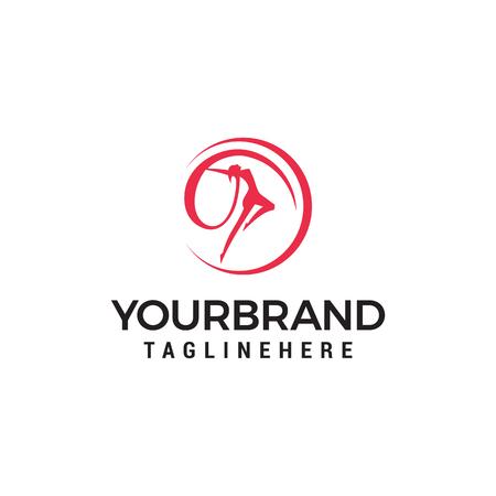 Danse femme Logo Template design