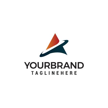 Letter A tech Logo Template design